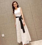 Spesifikasi Korea Fashion Style Putih Terlihat Langsing Elegan Slim Gaun Gaun Putih Baju Wanita Dress Wanita Gaun Wanita Lengkap