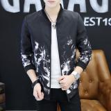 Harga Korea Fashion Style Remaja Siswa Jaket Bisbol Mantel Musim Gugur Jaket Api Putih Jaket Pria Jaket Bomber Online Tiongkok