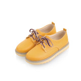 Harga Korea Fashion Style Renda Gadis Sepatu Kuning Sepatu Wanita Flat Shoes Di Tiongkok