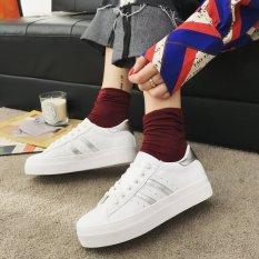 Korea Fashion Style Renda Musim Semi Karet Paling Bagus Sepatu Potongan Rendah (Putih)