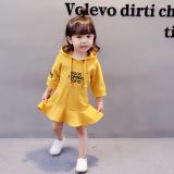 Korea Fashion Style Sayang Lengan Panjang Rok Musim Semi Gaun Lengan Kuning Baju Kaos Murah