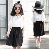 Katalog Korea Fashion Style Sifon Anak Besar Perempuan Gaun Pantai Gadis Gaun Putih Terbaru