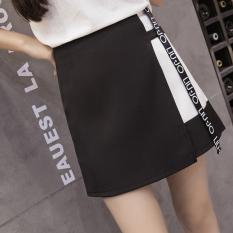 Korea Fashion Style Sifon Perempuan Musim Semi Dan Musim Panas Tidak Beraturan Rok Rok Setengah Badan (Hitam)