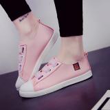 Spesifikasi Korea Fashion Style Siswa Kasual Sepatu Sepatu Kets Putih Merah Muda Untuk Mengirim Kaos Kaki Model Perahu Sepatu Wanita Sepatu Sport Sepatu Sneakers Wanita Murah