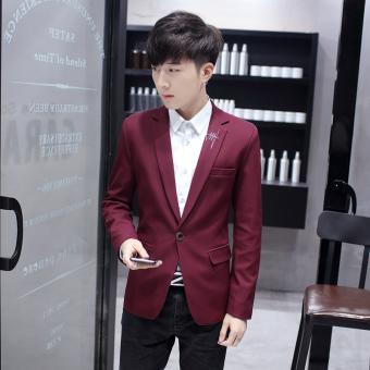 Beli sekarang Musim Semi dan Musim Gugur Pria Setelan formal Gaya Korea  membentuk tubuh Setelan formal Jaket anak muda murid tunggal barat kasual  Setelan ... 42ca5f19fa