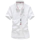 Korea Fashion Style Slim Siswa Lengan Pendek Atasan Kemeja Warna Kerah Putih Baju Atasan Kaos Pria Kemeja Pria Di Tiongkok