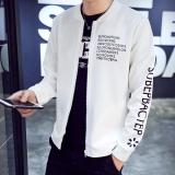 Jual Korea Fashion Style Slim Tampan Jaket Jaket Pria Jk12 Putih Jaket Pria Jaket Bomber Online Tiongkok
