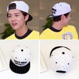 Beli Korea Fashion Style Pelindung Terik Matahari Topi Topi Bergaris Putih D N T Walk Murah Tiongkok