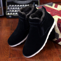 Korea Fashion Style Tambah Beludru Pergelangan Kaki Sedang Hangat Sepatu Katun Musim Dingin Salju Sepatu (
