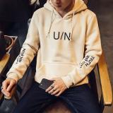 Harga Korea Fashion Style Tambah Beludru Remaja Siswa Pullover Hoodie Pria Kaos Sweater Coklat Muda Warna Di Tiongkok