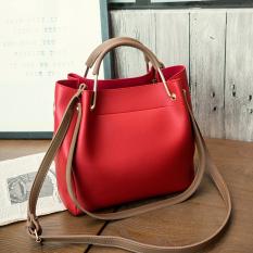 Spesifikasi Korea Fashion Style Tas Bahu Dengan Satu Tali Jinjing Tas Besar Tas Merah Murah Berkualitas