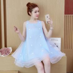 Harga Korea Fashion Style Terlihat Langsing Gaun Peri Biru Murah