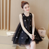 Spesifikasi Korea Fashion Style Terlihat Langsing Gaun Peri Hitam Murah