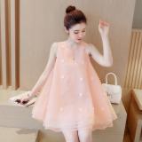 Spesifikasi Korea Fashion Style Terlihat Langsing Gaun Peri Merah Muda Warna Yang Bagus Dan Murah