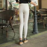 Penawaran Istimewa Korea Fashion Style Ukuran Besar Keelastikan Slim Modis Celana Pensil Musim Semi Celana Panjang Putih Terbaru