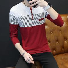 Jual Korea Fashion Style V Neck Slim Pria Baju Dalaman Atasan Pria Merah Baju Atasan Kaos Pria Kemeja Pria Other Original