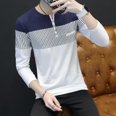 Spesifikasi Korea Fashion Style V Neck Slim Pria Baju Dalaman Atasan Pria Putih Baru