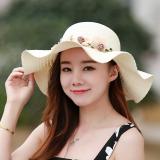 Penawaran Istimewa Korea Fashion Style Wanita Musim Panas Matahari Topi Topi Topi Jerami Topi Jerami 2017 10 Putih Susu Terbaru
