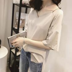 korea-fashion-style-warna-solid-baru-baju-atasan-wanita-longgar-lengan-pendek-kaos-dangkal-coklat-muda-2422-337061501-0cc85b4c4e84da834608cafad9aa86c3-catalog_233 Kumpulan Daftar Harga Atasan Wanita Warna Coklat Terbaik waktu ini