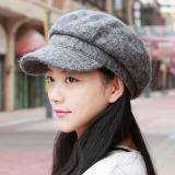 Jual Korea Fashion Style Wol Baret Perempuan Topi Topi Abu Abu Terang Oem Ori