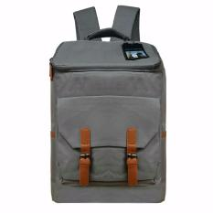 Korea Import Tas Ransel Polo Tokyo Design 17 Inchi 506-17 Polyester Canvas - Grey