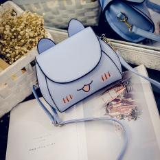 Korea Fashion Style lucu anak kucing tas bahu Messenger tas kecil tas wanita (Cahaya biru) (Cahaya biru) Tas Tas Wanita Tas Selempang Wanita Tas Mini Wanita
