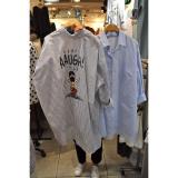 Spesifikasi Korea Fashion Style Musim Semi Dan Musim Panas Baru Kemeja Biru Biru Baju Wanita Baju Atasan Kemeja Wanita Oem