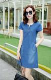 Korea Perempuan Bagian Panjang Dari Ukuran Besar A Rok Kata Denim Gaun Biru Muda Baju Wanita Dress Wanita Gaun Wanita Tiongkok Diskon