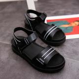 Jual Korea Perempuan Datar Baru Siswa Sepatu Sandal Hitam Other Asli