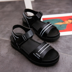 Spek Korea Perempuan Datar Baru Siswa Sepatu Sandal Hitam Indonesia