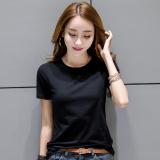 Beli T Shirt Putih Katun Slim Wanita Gaya Korea Hitam Hitam Oem Dengan Harga Terjangkau