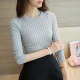 Review Switer Wanita Lengan Panjang Gaya Korea Abu Abu Terang Baju Wanita Baju Atasan Kemeja Wanita Oem Di Tiongkok