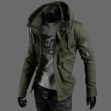 Jaket Hijau Tentara Warna Musim Gugur Atasan Korea Fashion Style Pria Tentara Hijau Jaket Pria Jaket Jeans Jaket Denim Oem Murah Di Tiongkok