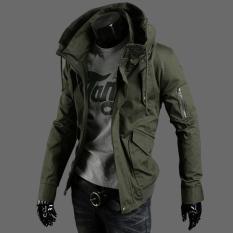 Spek Jaket Hijau Tentara Warna Musim Gugur Atasan Korea Fashion Style Pria Tentara Hijau Jaket Pria Jaket Jeans Jaket Denim