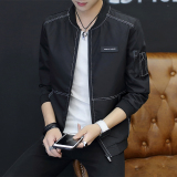 Korea Slim Gerakan Mahasiswa Busana Jaket Jaket Pria Hitam Promo Beli 1 Gratis 1