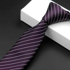 Korean Casual Karir Tie Polyester Groom Pernikahan Meriah Bergaris Pria Dasi HB08-Intl