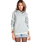 Harga Korean Casual Mantel Sweater Olahraga Pullover Tudung And Hoodies Sweatshirt Abu Abu Intl Merk Unbranded