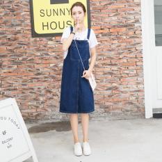 Harga Korea Denim Rok Suspender Tali Slim Rok Pendek Kasual A Line Shirting Overall Longgar Pinafore Rok Intl Oem Online