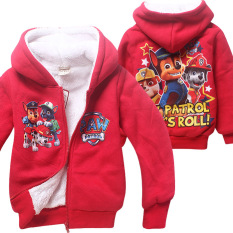 Toko Korean Fashion 4 8 Years Old Boy Or Girls Winter Travel Plus Velvet Double Warm Coats Color Red Paw Patrol Intl Lengkap