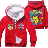 Jual Korea Fashion 5 12 Tahun Boy Atau Girls Winter Travel Plus Velvet Double Hangat Mantel Warna Merah Pikachu Intl Future
