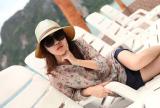 Jual Fashion Korea Topi Fedora Warna Sabuk Kulit Blok Matahari Pantai Panama Topi Topi Jerami Adapula Biru Kopi Merah Biru Krem Berisik Di Bawah Harga