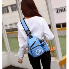 Korean Fashion Leisure Outdoor Sprot Sling Bag Shoulder Backpack Casual Cross Body Bag Outdoor Sling Backpack Chest Pack With Adjustable Shoulder Strap For Cycling Hiking Camping Travel And Men Women Water Blue Intl Diskon Akhir Tahun