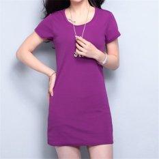 Beli Korean Fashion Summer Solid Color Short Sleeveless Mini Dress Hds056 Purple Hotyv