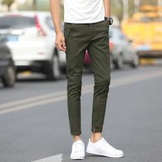Spesifikasi Pria Kasual Celana Buah Warna Celana Santai Fashional Sembilan Celana Untuk Pria Slim Celana Skinny Pants Intl Lengkap Dengan Harga