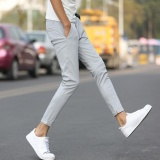 Korean Men S Casual Pants Fruit Color Leisure Pants Fashional Nine Pants For Men Slim Trousers Skinny Pants Intl Asli