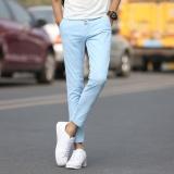 Spesifikasi Pria Kasual Celana Buah Warna Celana Santai Fashional Sembilan Celana Untuk Pria Slim Celana Skinny Pants Intl