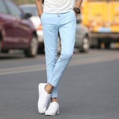 Beli Barang Pria Kasual Celana Buah Warna Celana Santai Fashional Sembilan Celana Untuk Pria Slim Celana Skinny Pants Intl Online