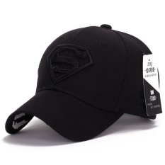 Beli Korea Baru Matahari Topi Pria Wanita Pasangan Superman Bisbol Cap Fashion Golf Hat Black Intl Online Murah