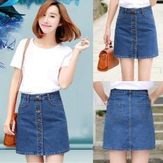 Toko Korea Slim Rok Women A Line Rok Satu Langkah Rok Pendek Hot Pants Tipis Denim Breasted Tombol Fashion Intl Dekat Sini