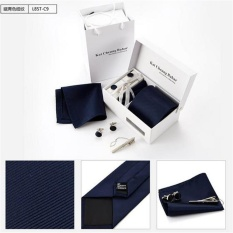 Jual Korea Gaya Pria Usaha Tie Set Pernikahan Dasi Formal Tie Set Tie Kerchief Tie Pin Cuff Links Kotak Pria Pesta Dress Neck Tie Intl Murah